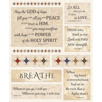 Timeless Treasures, Woven in Faith Tapestry Fabric Panel