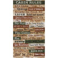 Timeless Treasures, Cabin Rules Fabric Panel