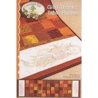 Give Thanks Table Runner Pattern, Crabapple Hill Studio