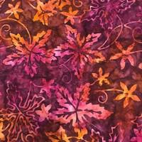 Komo Batiks Autumn Leaves Fabric