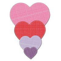 Crafter's Edge, Nested Hearts 4 Piece Die Set