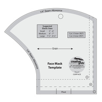 Creative Grids, Face Mask Template Ruler