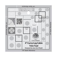 Curvy Log Cabin Trim Tool 4in, Creative Grids