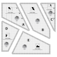Creative Grids Crazier Eights Template Set - 5pc