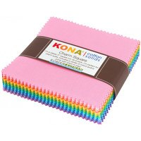 Robert Kaufman, Kona Solids 5in Fabric Squares (85 pcs)