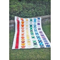 Striped Rainbow Quilt Pattern