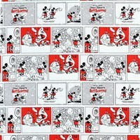 Disney, Mickey and Minnie Love Affair Fabric, Vintage
