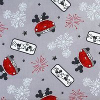 Disney, Fireworks of Love, Mickey and Minnie Mouse Fabric, Vintage