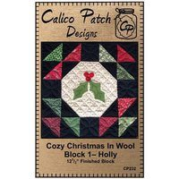 Cozy Christmas in Wool Block Pattern #1 - Holly