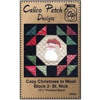 Cozy Christmas in Wool Block 2 St. Nick, Calico Patch Design