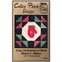 Cozy Christmas in Wool Block 4 - Mitten, Calico Patch Designs