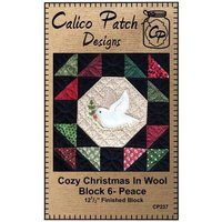 Cozy Christmas in Wool Block 6 - Peace, Calico Patch Designs