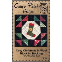 Cozy Christmas in Wool Block 9 Stocking Calico Patch Designs