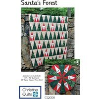 Santa's Forest Quilt and Tree Skirt Pattern