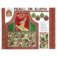 Paintbrush Studio, Peace on Earth Apron Fabric Panel