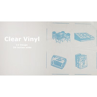 Clear Vinyl Fabric, 12 Gauge - 54in Wide