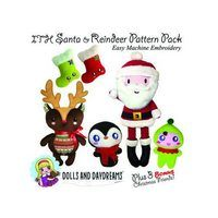 Santa Claus and Friends Embroidery Dolls Pattern Pack