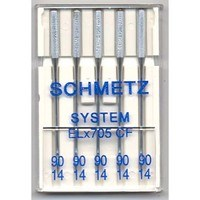 Chrome Finish Needles, Schmetz ELx705CF (5pk)