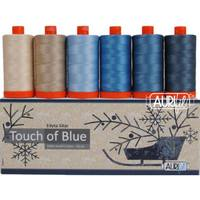 Aurifil, 6 Spool, Touch of Blue Thread Collection - 1422yds (50wt)