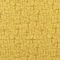 Whistler Studios, Faith Fabric, Crosses, Gold