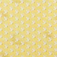 Whistler Studios, Faith Fabric, Doves, Gold
