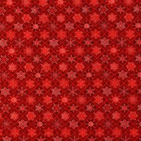 Christmas Visions, Metallic Snowflakes Fabric, Red