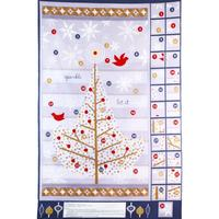 Advent Calendar Fabric Panel, Holiday Sparkle