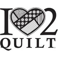 I Heart 2 Quilt, Vinyl Decal