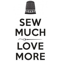Sew Much Love More, Vinyl Decal