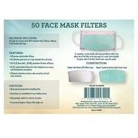 Face Mask Filters - 50pk