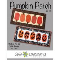Pumpkin Patch Table Runner Pattern, G.E. Designs