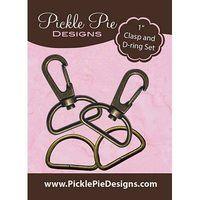 """Antique Brass Hardware Kit (1""""), Pickle Pie Designs"""