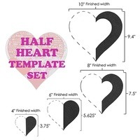 Half Hearts 4pc Template Set, Martelli