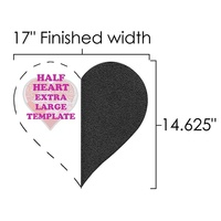 Extra Large Half Heart Template Ruler, Martelli