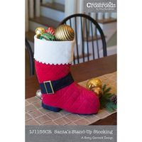 Santa's Stand-Up Stocking Pattern
