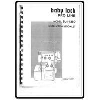 Instruction Manual, Babylock BL4-738D
