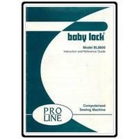 Instruction Manual, Babylock BL8800