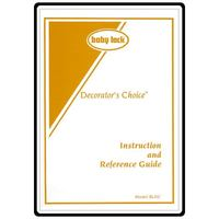 Instruction Manual, Babylock BLDC Decorator's Choice