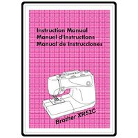 Instruction Manual, Brother XR-52C