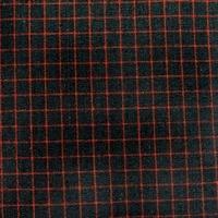 Homespun Navy and Red Checkered Fabric