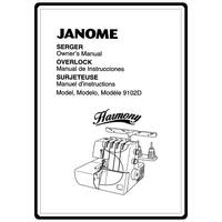 Instruction Manual, Janome 9102D Harmony