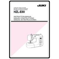 Instruction Manual, Juki HZL-E80