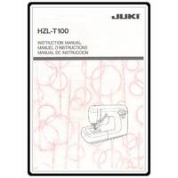 Instruction Manual, Juki HZL-T100