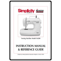 Instruction Manual, Simplicity SA200