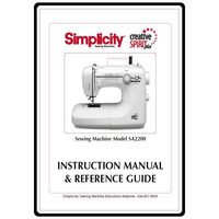 Instruction Manual, Simplicity SA2200