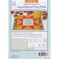Inspirational Mug Mat Pattern, Quilty Fun, June Tailor