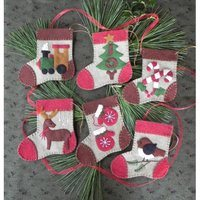 Warm Feet Stocking Ornament Kit - Makes 6 Ornaments