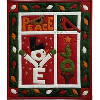 Love, Joy, Peace Wall Quilt Kit