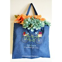 Denim Tote Embroidery Blank