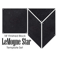Lemoyne Star 4pc Template Set, Martelli